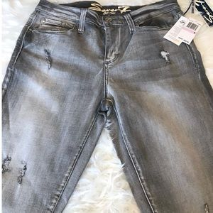 NWT Seven7 Size 6 Skinny Gray Distressed Jeans